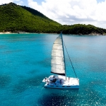 Leaving anchorage in St Barths