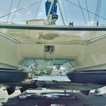 Another day of upgrades to ARAVILLA while she was out of the water. Busy day, and ready to go sailing again tomorrow!!