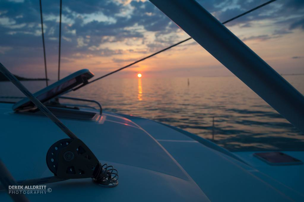 More amazing sunset cruising and photos on perfectly still warm Caribbean waters