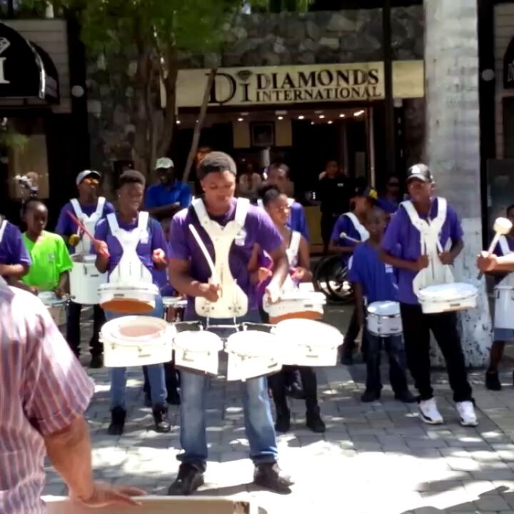 Found some amazing drumline work in today -- these kids rock