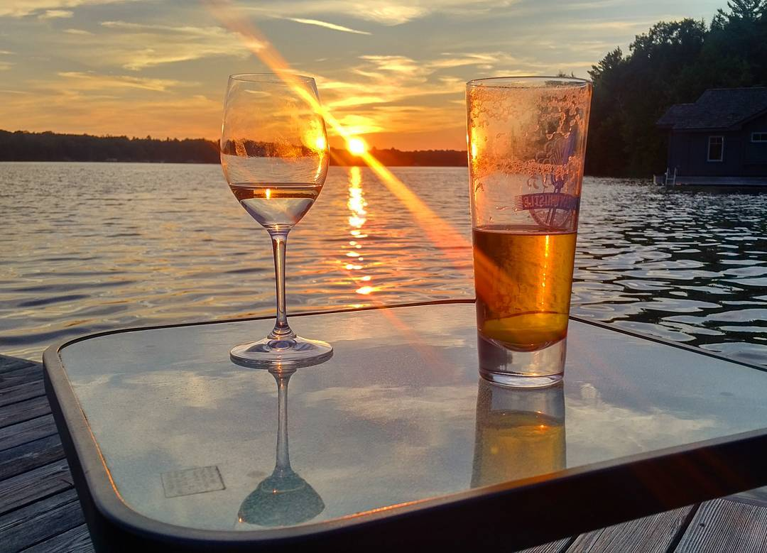Sometimes we enjoy sunsets and drinks on shore — if you're looking to book a Caribbean vacation and enjoy sunsets and drinks aboard a beautiful yacht, as well as a week to remember for a lifetime, make sure to contact us today