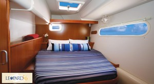 Exceptionally spacious and bright cabins with private ensuite head/shower